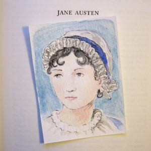 Jane Austen portrait by Alice Flynn