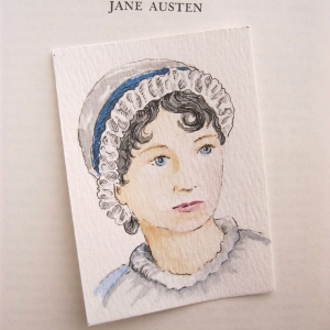Jane Austen Watercolor